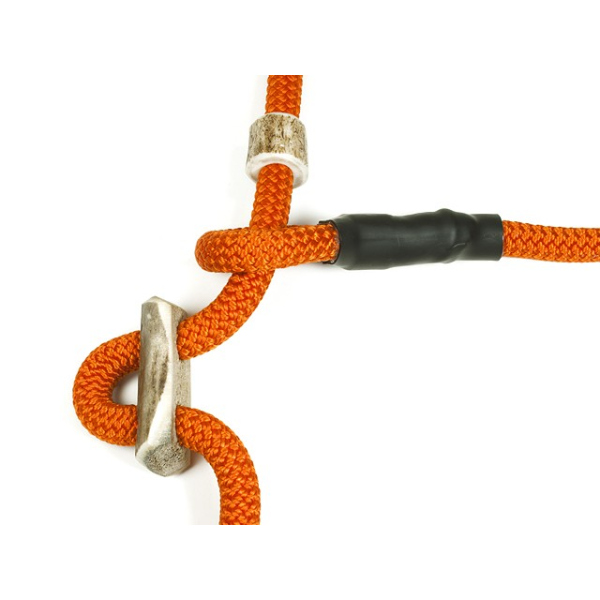 Mystique Retrieverleine Umhängeleine Hunting Profi 8mm L - 345cm orange mit Zugbegrenzung