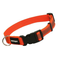 Mystique Gummiertes Halsband 30-40cm 25mm orange