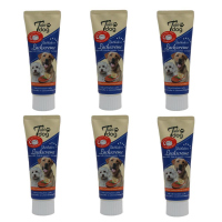 6 x Tubi-DOG Tubi Dog Lachscreme in der Tube 75g im 6er Set
