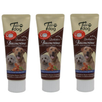 3 x Tubi-DOG Tubi Dog Baconcreme in der Tube 75g im 3er Set