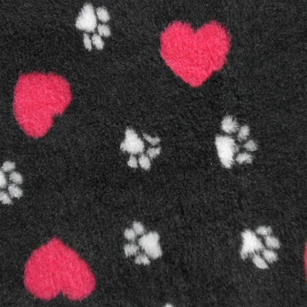 Vetbed Isobed SL anthrazit hearts & paws 50 x 75cm