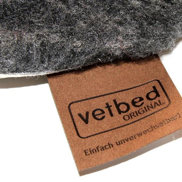 Vetbed Isobed SL anthrazit hearts & paws 75 x 100cm