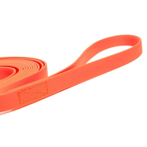 Mystique® Biothane Schleppleine 16mm vernäht mit HS Standard Karabiner beta neon orange 15m
