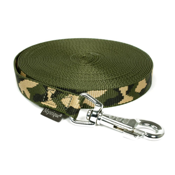 Mystique® Nylon Schleppleine 25mm camo 10m