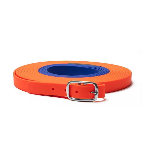 Mystique Biothane beta Schweißriemen 19mm orange-blau 10m