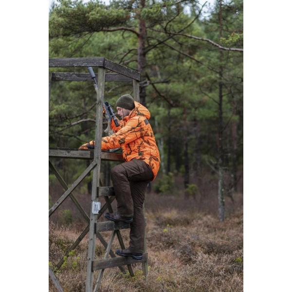 Pinewood Jagdjacke Abisko Camou AP Blaze Outdoor Jagdbekleidung Drückjagd Orange