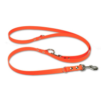 Mystique® Biothane verstellbare Leine 19mm neon orange 200cm